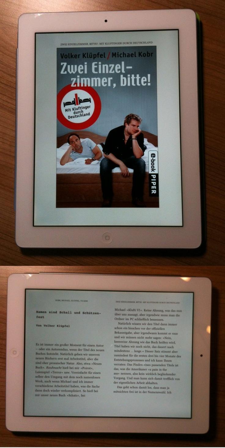 Im Urlaub endlich auf dem iPad zu Ende gelesen (nicht ohne neidischen Blick auf den leichteren, handlicheren Kindle touch meines Mannes!!!). Im Gegensatz zu ihren Krimis mussten Klüpfel und Kobr für dieses Buch Kritik einstecken. Ich kann für mich nur sagen, dass der Humor der Autoren komplett meine Wellenlänge ist (bewiesen auch permanent auf www.facebook.com/kluftinger.krimis). Und es ist erfrischend für die Texte, dass sich die beiden nicht so wichtig nehmen, wie sie es tatsächlich…