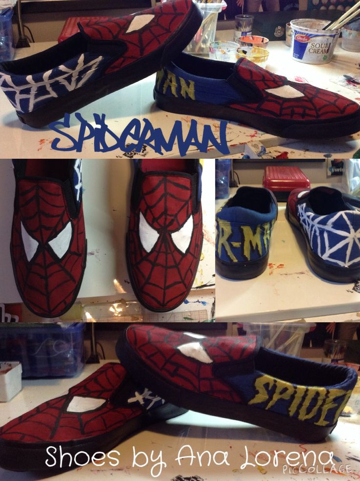 Made some Spider-Man shoes!!  Email analorenafuentesroman@gmail.com if you would like some custom shoes