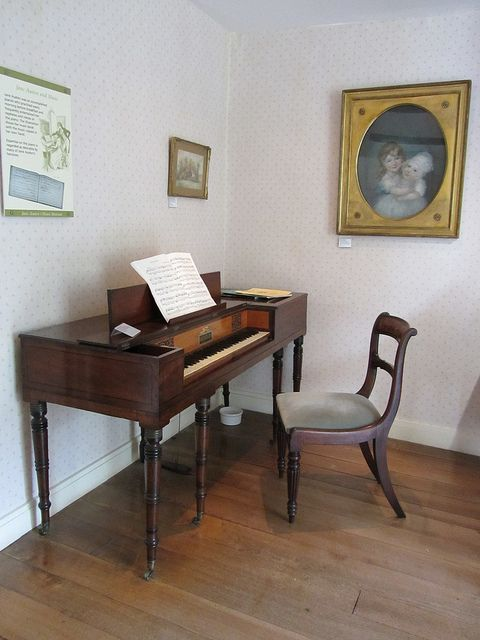 Jane Austen's House   Flickr - Photo Sharing! I was given the opportunity to play this piano. I'll never forget.