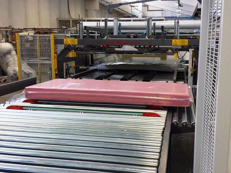 L'imballatrice automatica H288 RMT è una macchina appositamente studiata per imbustare i materassi giunti nella parte finale di una linea di produzione.