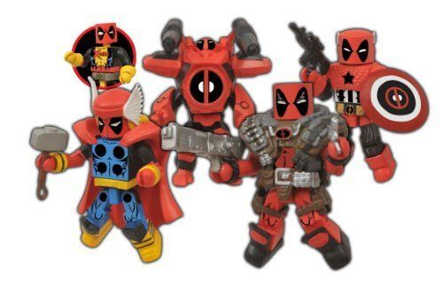 Action Figure Toys Marvel Minimates Deadpool 16 Points Of Articulation Box Set  #DiamondSelect