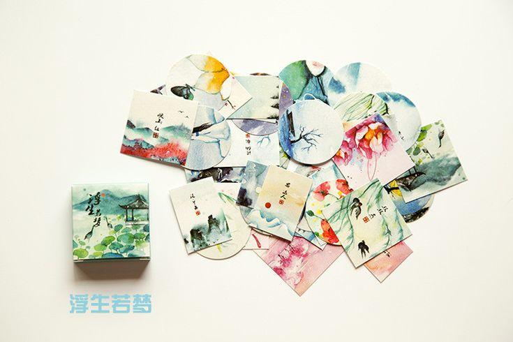 Горячая 40 шт./пакет DIY каваи записки бумаги наклейки ремесла декоративные этикетку для украшения дома милые канцелярские 38 * 38 мм купить на AliExpress
