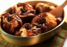 Pommes au four à la cannelle ou au chocolat.