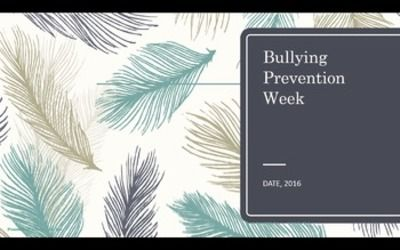 Bullying Prevention Week Assembly PPT PBIS Character Ed w Resources & Video Link from CounselorBev on TeachersNotebook.com (15 pages)