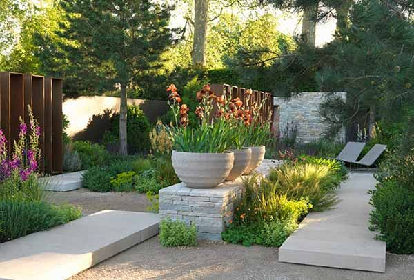 Contemporary Landscaping Ideas from Andy Sturgeon, Small Garden Design
