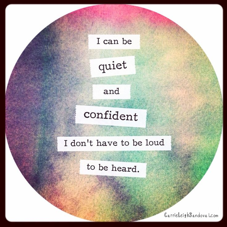 #Quiet #confidence #affirmation http://carrieleighsandoval.com/journal/quiet-confidence-affirmation/