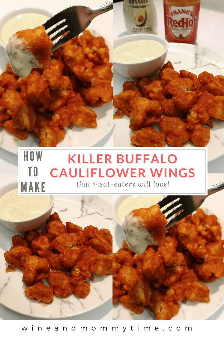 Are you meatless and in need of some football season friendly food? Or maybe you're having a craving for your favorite pub food. These buffalo cauliflower wings will leave your taste buds begging for more. And your meat-eating friends jealous!