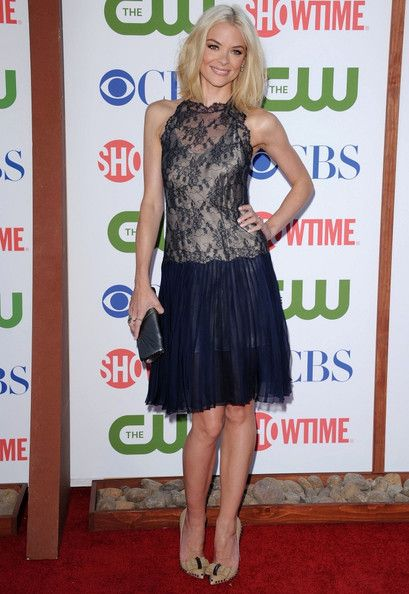 Jaime King-Valentino. Her style is so interesting to me. Lots of lace, fringe and vintage glamor, with a hint of rocker/rebel