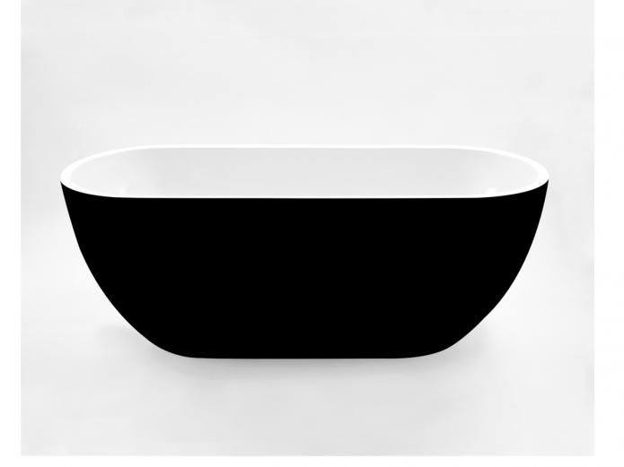 Kado Lure 1500 Petite Black Freestanding Bath delivers hotel inspired living to your bathroom space.