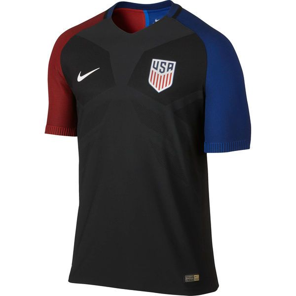 Blank Away Authentic Men's Jersey 2016 USA Soccer Team