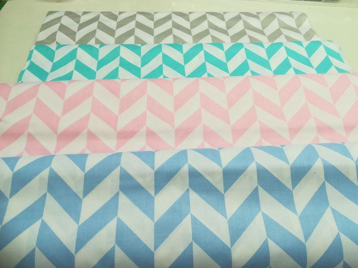 Pamut vászon anyag geometrikus (választható színek)