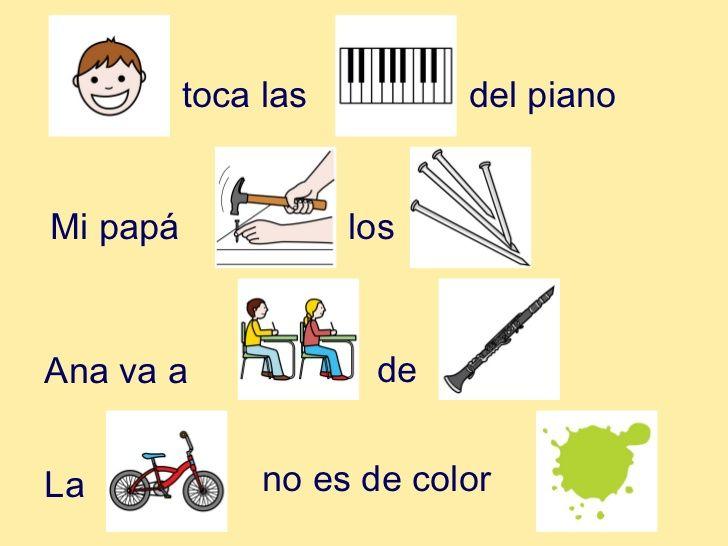 lectura de frases con pictogramas sinfones - Buscar con Google