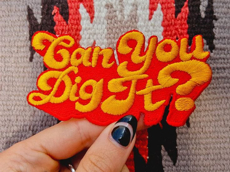 Hallow Collective - Can You Dig It? Embroidered Patch