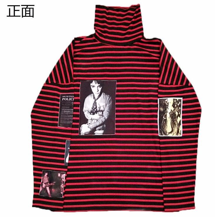 Find More Hoodies & Sweatshirts Information about JOYINPARTY Bigbang Kpop Womens Men Sweatshirts Airbnb GD Top Harajuku Hoodies Pullover Turtleneck Red Striped Patchwork Cotton,High Quality harajuku hoodie,China hoodie pullover Suppliers, Cheap bigbang kpop from JOYINPARTYCHIC Store on Aliexpress.com