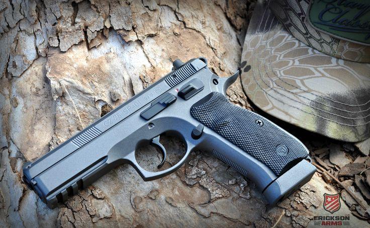CZ 75 SP-01 done in Tungsten and Graphite Black #cerakote #CZ #CZ75