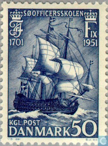 Postage Stamps - Denmark - Zeekadetten school