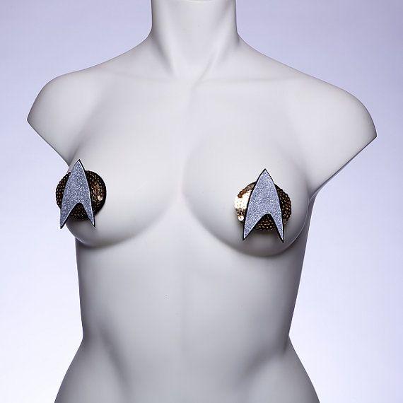 Star Trek Communicator Pasties by ThePastieWidow on Etsy, $20.00 AUBREY!!!  AUBREY!!!!! EHMAGEHERD!!!!