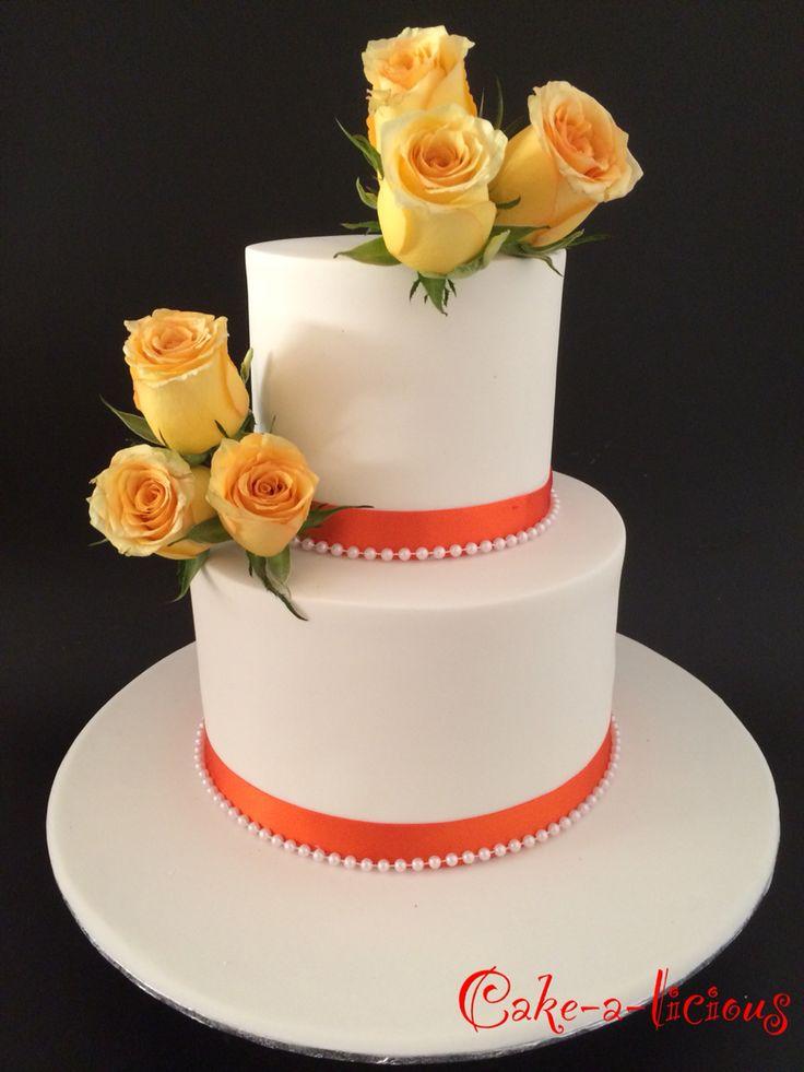 #orange wedding cake  #cakealicious