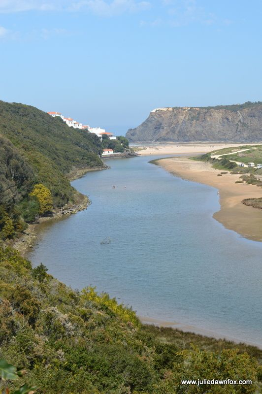 Walk in Odeceixe to Discover Dragons and Beaches - via Julie Dawn Fox in Portugal 22.05.2015 | Odeceixe is a little slice of heaven on the west coast of Portugal blending bucolic countryside with a magnificent coastline. The village itself is about 3 kilometres inland and has a relaxed, non-beachy charm all of its own. Photo: River Seixe,  Rota Vicentina