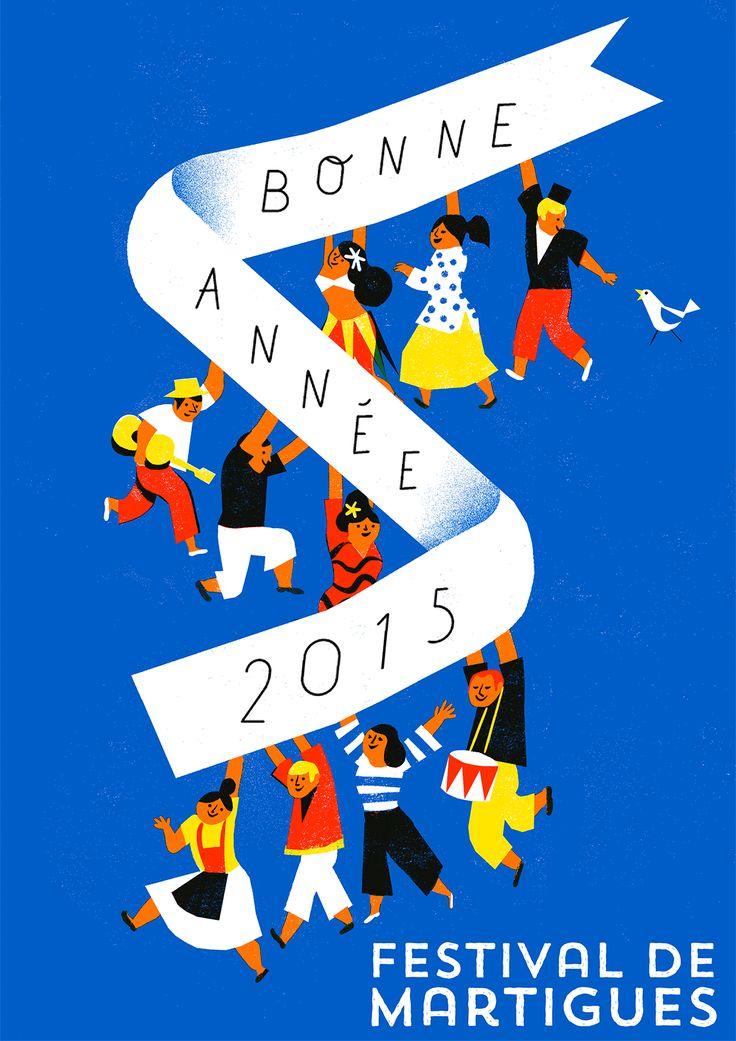 """Greeting Card for """"Festival de Martigues"""""""