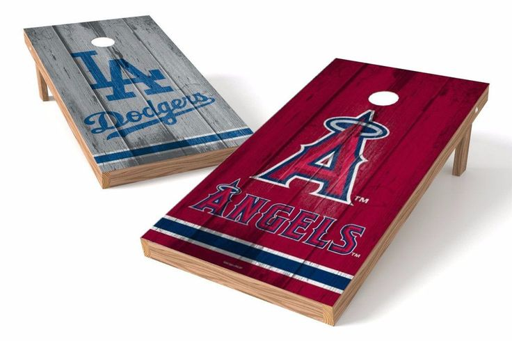 Los Angeles Dodgers/ Los Angeles Angels Rivals Cornhole Board Set