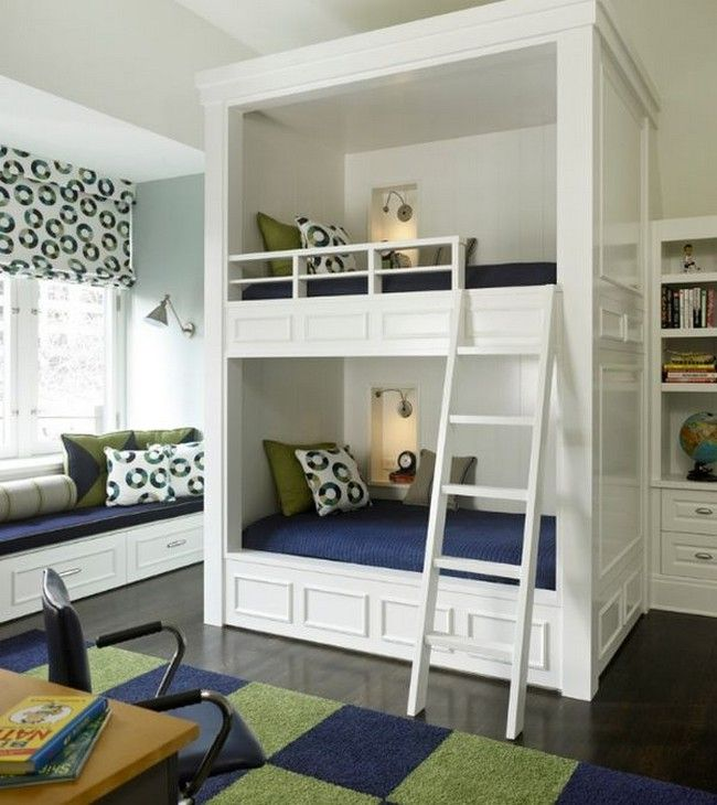 How about a bunk bed tower in the bedroom?
