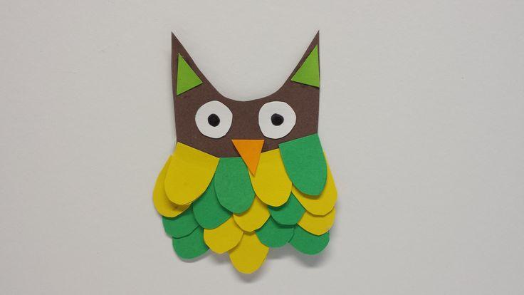 Ainon ja Siljan pöllö. askartelu | kädentaidot | paperi | lasten | lapset | helppo | askarrellaan | kids | children | easy | crafts | Pikku Kakkonen