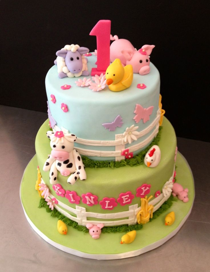 Girly Farm Cake