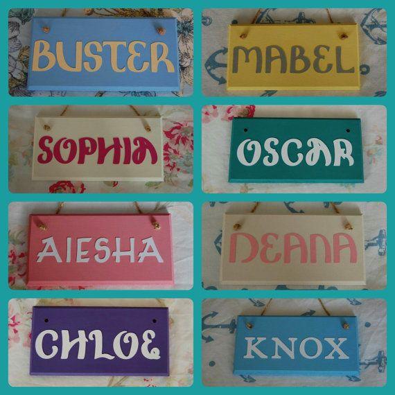 Handmade Personalised Name Door sign. Nursery by FairylandDecor
