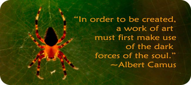 Spider whispers to remind us that our choices construct our lives so that we can weave our own lives.