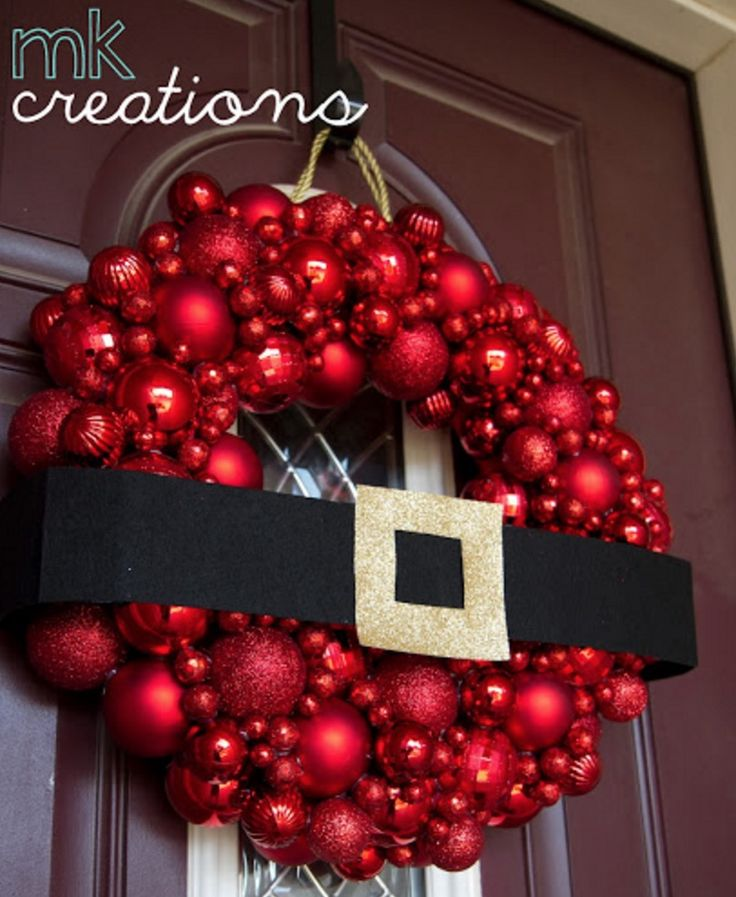 You'll love to make this fabulous Santa Wreath for the front door of your home. Check out the Bauble and Tulle versions.