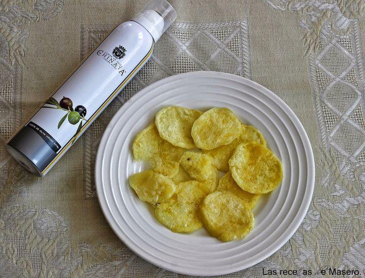 Descubre lo sencillo que es hacer tus propias patatas chips en el microondas gracias a la autora del blog LAS RECETAS DE MASERO.