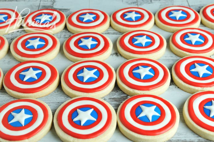 Captain America Shield Cookies