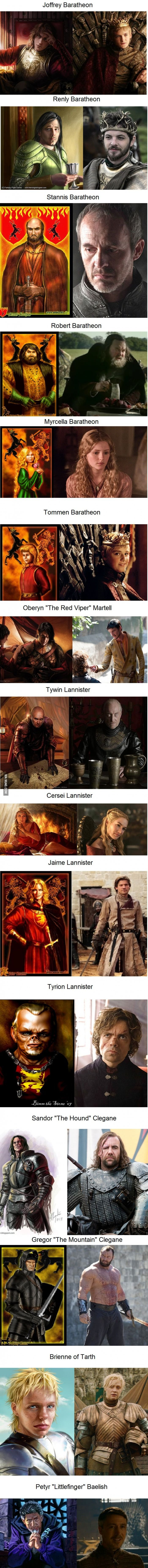 Game of Thrones Characters: In the Books vs. On The Show