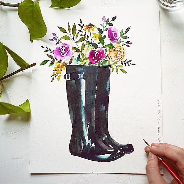 Rain Boots Watercolor Kit In 2020 Watercolor Kit Let S Make Art