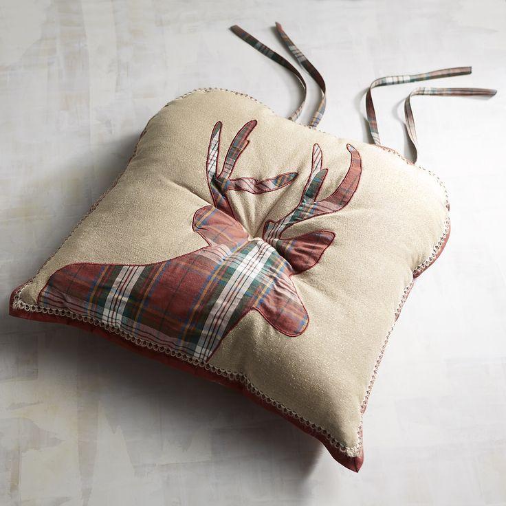 Plaid Deer Dining Cushion
