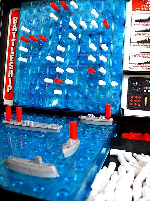 Battleship - I can see my dad and brother and mom too playing this game!  Board games are still the best.  Sorry, modern tech.