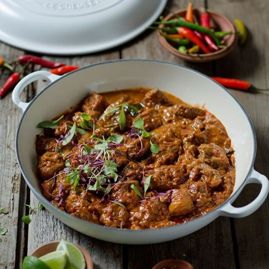 Fiery Lamb Curry recipe from Le Creuset, maybe I'll use my new Balti dish from Le Creuset to make this!