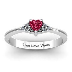 Real-World Connection: a purity ring is a ring given to a young lady by her father. It is a promise that the girl makes to save herself for marriage and for the person that she truly loves. Like a vow made in matrimony, this vow is made to create the ultimate result of true love and promise.