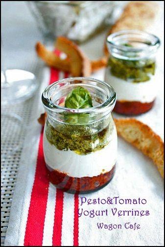 Pesto Yogurt Verrines