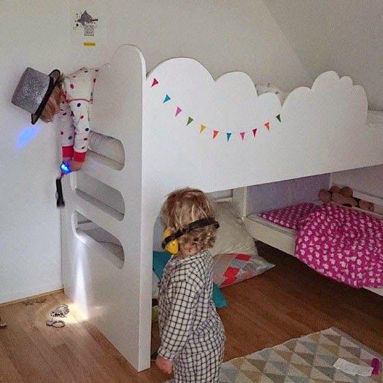 mommo design: NUVOLE.... Bunk beds for a shared room. Stapelbed voor gedeelde kamer. Hoogslaper. #nursery #kinderkamer