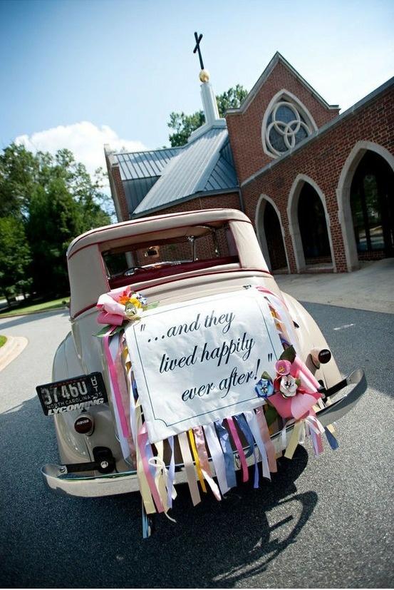 34 best just married images on pinterest wedding cars for Just married dekoration