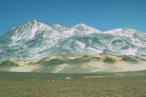 Nevado Ojos del Salado Chile / argentina border