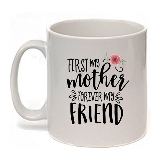 My Mother My Friend Mug/Mother Gift/Mom by NoteWorthyStationery