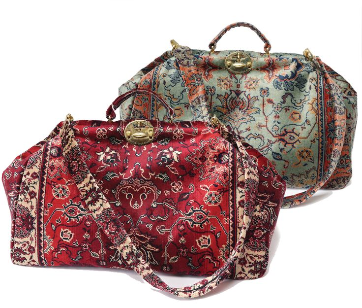 #CarpetBags beautiful #MaryPoppins #bags in Sultan and Verda fabric. Each #designed and #handcrafted in England. #madeinBritain #carpetbag #MaryPoppinsBag