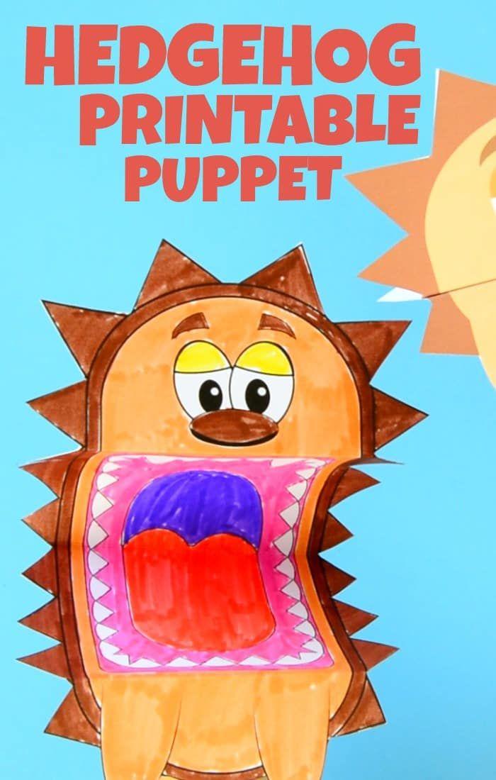 Adorable Printable Hedgehog Puppet Craft for Kids