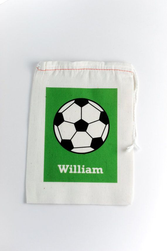 Soccer Personalized Favor Bag by nickwilljack on Etsy, $3.00