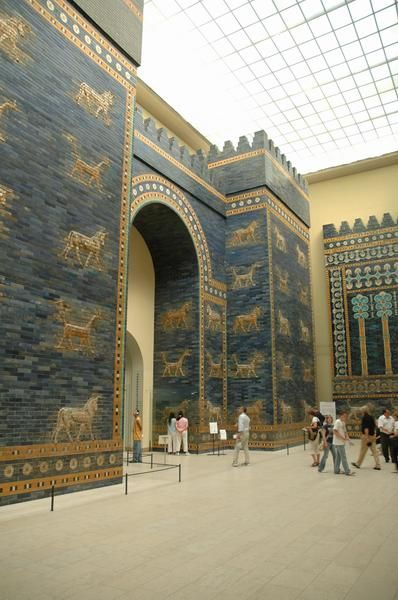 The Ishtar Gate (Babylon) - now in Berlin Museum. So beautiful, yet sad that it is no longer in its original location.