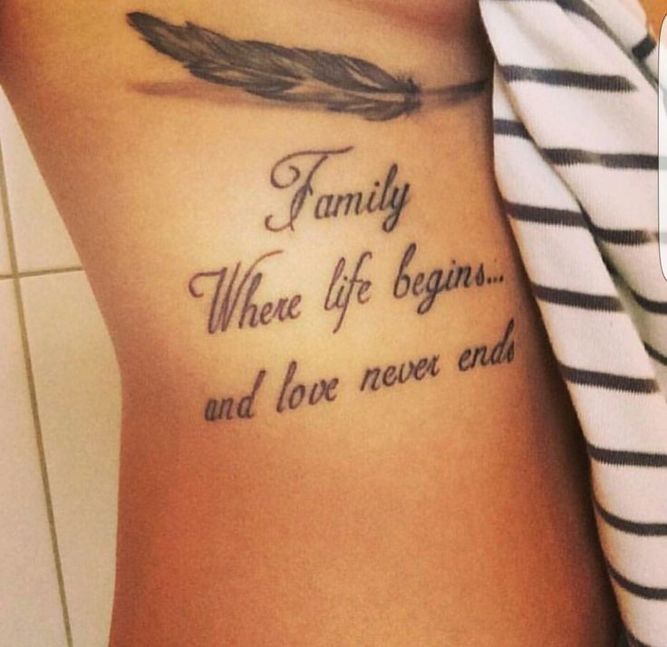 Tattoo Designs Family Quotes: Family Where Life Begins... And Love Never Ends