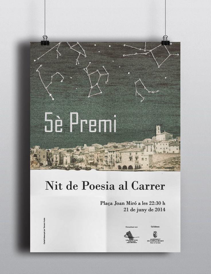 Cartel para el concurso de poesía organizado por CalaCultura en L'Ametlla de Mar